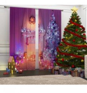 Фото шторы и модульные картины