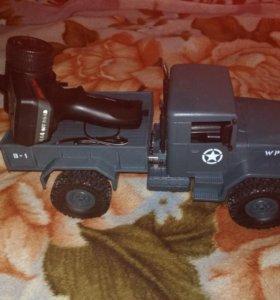 4х4 радио управляемая модель военного горузовика