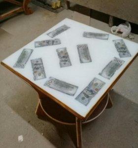 Стол длинный,4кресла,1трон,2журнальных столика