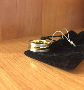 Кольцо серебро в позолоте, новое. Р 19-20