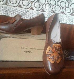Кожаные туфли. Бохо.