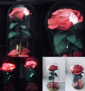 Светильник «Роза в колбе»