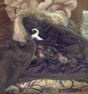 Куртка кожа зимняя