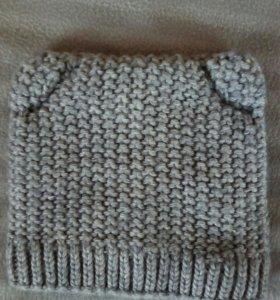 Шапка вязанная флис