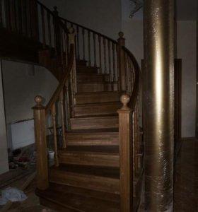 Изготовление и установка дверей лестниц