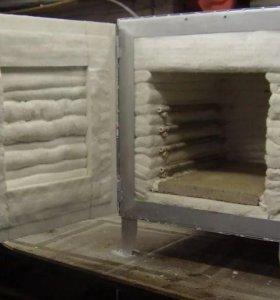Обжиговая или муфельная печь для обжига керамики