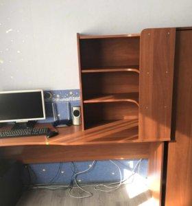Письменный стол и шкаф. Торг.