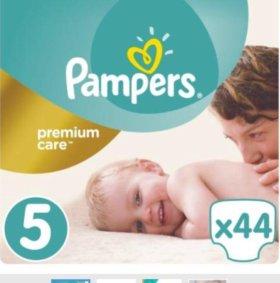 Подгузники Pampers Premium Care 5 44 штуки новые