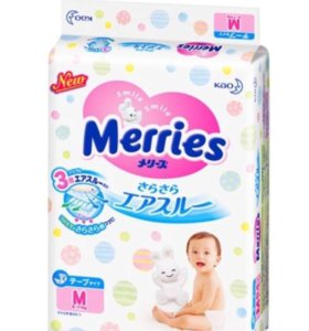 Подгузники Merries 6-11 кг (50шт)