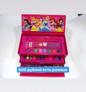 Набор карандаши, фломастеры, краски