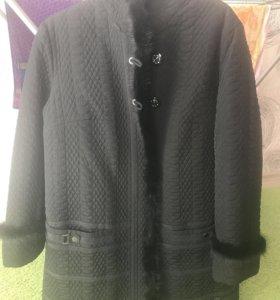 Куртка утеплённая , длинная