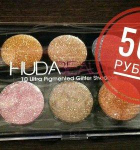 Блестящие глиттеры для глаз HUDA BEAUTY