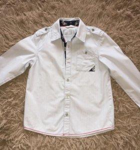 Рубашка 6-8 лет 128 см(бледно-голубая)