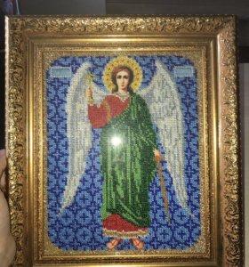 Икона Ангел Хранитель бисером