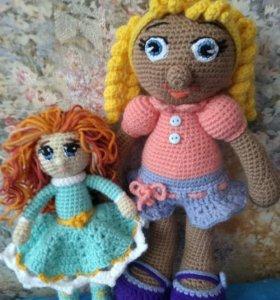 Вязаная кукла.( 30 см)(20 см)Олень