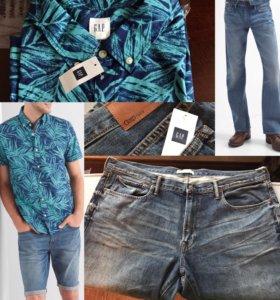 Рубашка и джинсы GAP большого размера