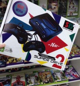 Sega super drive (62 встроенных игр)