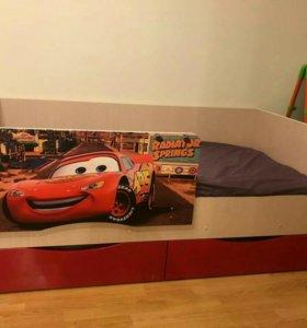 Кровать Тачки