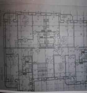 Квартира, 1 комната, 51.5 м²