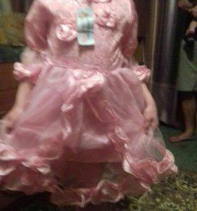 Платье новое на 5-8 лет