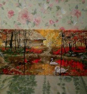 Триптих картина