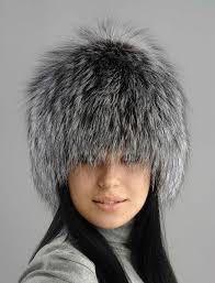 Вязаная шапка из чернобурки