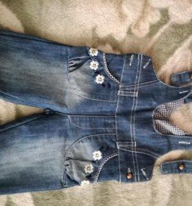 джинсовый комбенизон на девочку