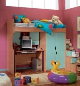Мебель детская как на фото цвет оранжевый б.у.