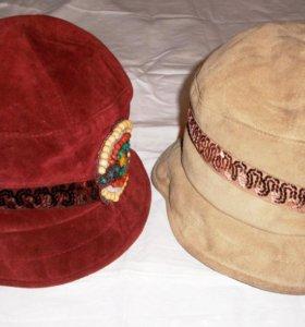 Шляпки женские замшевые, новые, размер 55-56