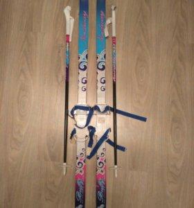 Детские лыжи и палки