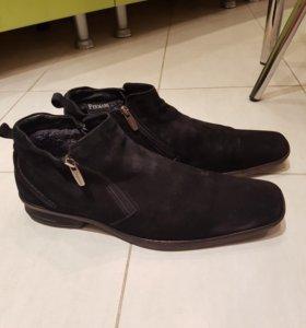 Туфли замшевые зимние