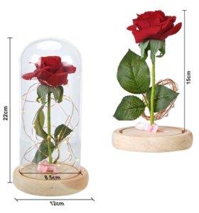 Вечная роза в колбе (С подсветкой)