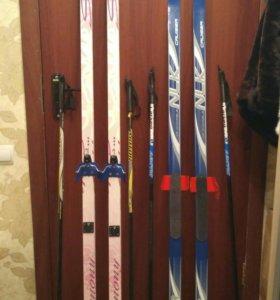 Лыжи1м95;1м75см