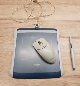 Планшет Wacom Graphire 2 c беспроводной мышью