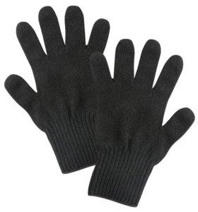 Вязанные полушерстяные мужские перчатки