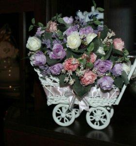 Цветочные коляски