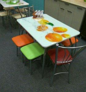 """Стол """"Апельсины"""" стекло"""