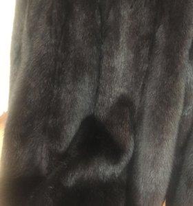 Шуба норковая,чёрный брильянт 42-44