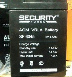 Аккумулятор 6v 4.5A