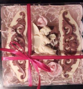 Шоколадная Фея с розами. Подарок любимой женщине!