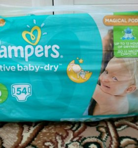 Памперсы Active baby-dry 6 (15 кг+)
