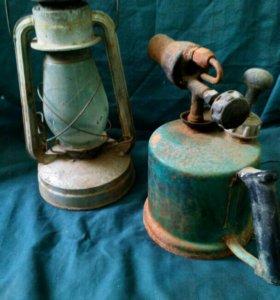 Керосиновая лампа и горелка