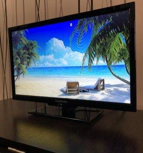 Яркий современный LED TV 19 дюймов КАК НОВЫЙ