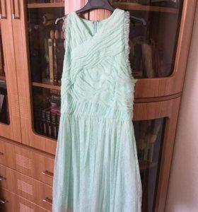 Платье мятное Mango