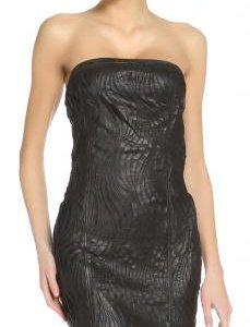 Новое черное кожаное платье patrizia pepe оригинал