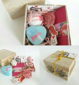 Подарок в коробке С любовью в сердце