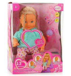 Интерактивная кукла для девочки. Новая