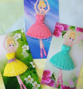 """Открытка с мылом ручной работы """"Платье для куклы"""""""