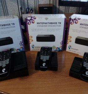 3 приставки Ростелеком IP TV, 1 роутер и модем