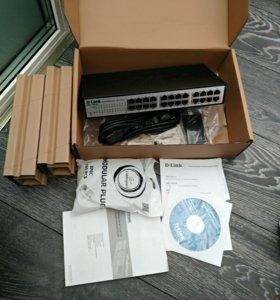 Коммутатор D-Link DES- 1100-24 Новый